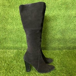 Betsey Johnson Black Dluxe Knee High Suede  Boots